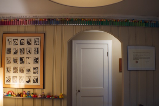 There's still plenty of Pez to go around. Also, bonus shot of Dehbi & Anselm's alphabet  print from many years ago!