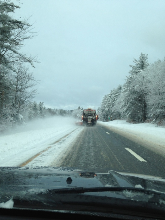 A little dicey on the way to the mountain.