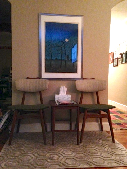 Sweet little wedding chairs