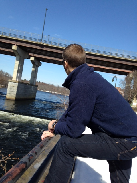 We took a walk downtown and watched some ducks surf the rapids.