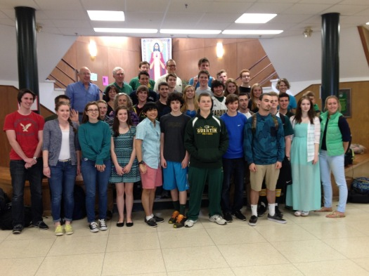 Derek's alma mater, Bishop Guertin is rocking some Blue & Green! Go Cardinals!