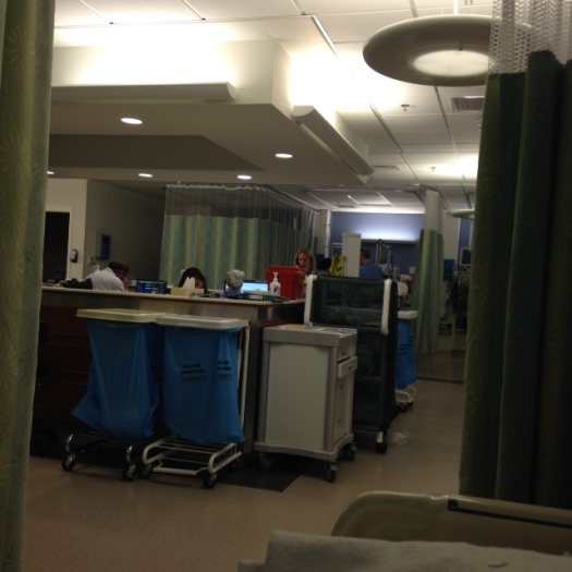 My view from my bed in the PACU.