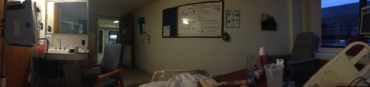 A panoramic view of my room on 6 Central.