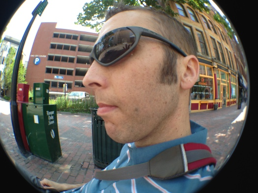 Testing out my new iPhone fish eye lens.