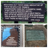 Lots of signs about a man who fell down a few years ago.
