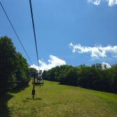 Summer chair life ride to the top of Sunapee