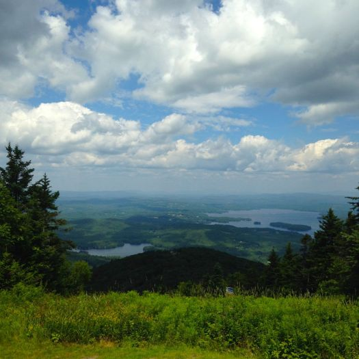 View from the summit of Mt. Sunapee