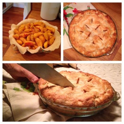 A world famous Roseberry-Bonazoli-Dowd Peach Pie.