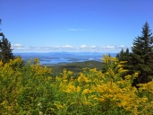 Gunstock Ski Trail. Lake Winnipesaukee and Bear Island