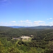 Panorama of Gunstock Parking Lot and ski hill