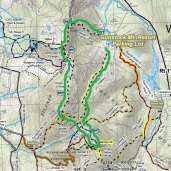Trail Map - up the yellow trail and down the white