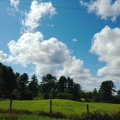 Pretty clouds taken from the car on the ride home.