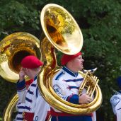 There were many tuba players.