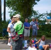 Derek handing out NEOB schwag to the crowds.