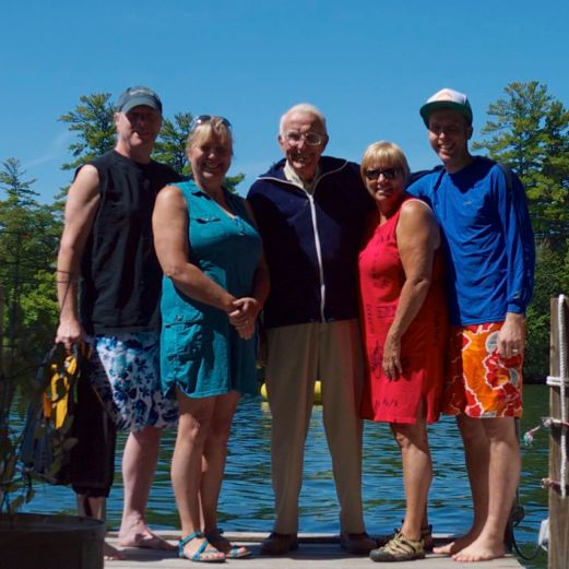 The crew: my parents, grandfather, aunt, and me.