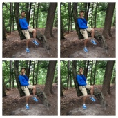 Derek found a tree chair and took the opportunity to recreate some senior portraits.