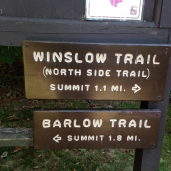 We went up Winslow and down Barlow.