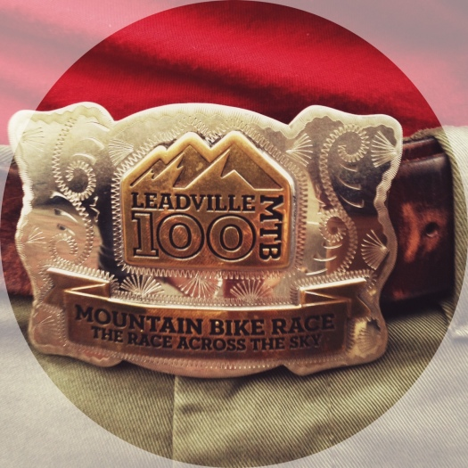 Jim's super cool belt buckle. We're told he's worn it every day since Leadville.