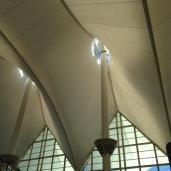 Inside Denver Airport.