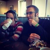 Kathleen & Derek enjoying some tacos.