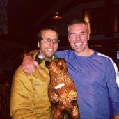 Derek, the bear, and Chris.