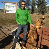 We found the bear's brethren being carved.