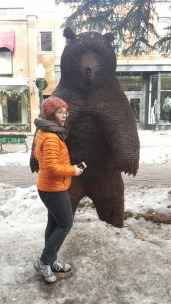 Hey. This bear is made of nails.