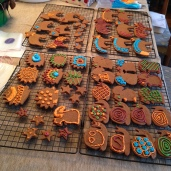 Big pile of cookies.