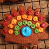 This was my favorite cookie. Rainbow hedgehog.