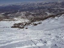 Looking down the bowl