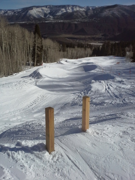 Derek did a few laps on the banked slalom course where Chris Klug won gold the week before.
