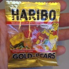 We splurged and got this teeny tiny package of teeny tiny gummi bears.