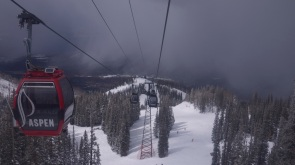 Gondola trip through the clouds.