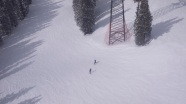 Those little specks are skiers.