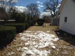 I shoveled snow one last time to make it melt faster.