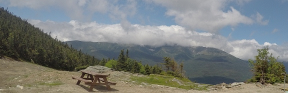 Mount Washington covered in clouds
