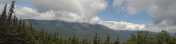 Mount Washington. Tuckerman Ravine still has snow