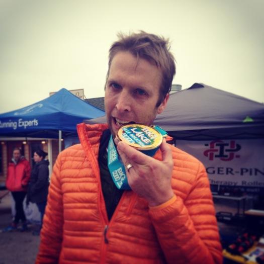 Derek at the Big Lake 1/2 Marathon