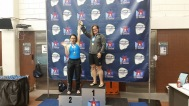 Sharing the podium with a cornea transplant recipient who schooled me in the pool.
