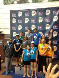 Our new friends from the PACNW team celebrating their relay win.