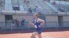 Derek looking strong during the 800m